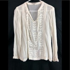 Madewell Broadway & Broome Peasant Top Large